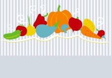 Fondo del vector con las verduras Imágenes de archivo libres de regalías