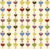 Fondo del vector con los corazones fotos de archivo