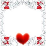 Fondo del vector con los corazones rojos Imagen de archivo libre de regalías