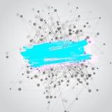 Fondo del vector con los triángulos, puntos con Foto de archivo libre de regalías