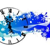 Fondo del vector con un reloj Fotos de archivo libres de regalías