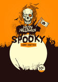 Fondo del vector de Halloween Imagen de archivo libre de regalías