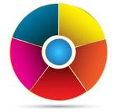 Fondo del vector de la empanada del círculo Fotos de archivo libres de regalías