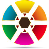 Fondo del vector de la empanada del círculo Fotografía de archivo libre de regalías