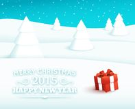 Fondo del vector de la Feliz Navidad Foto de archivo