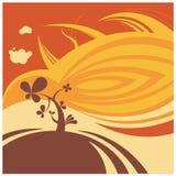 Fondo del vector de la flor del desierto ilustración del vector