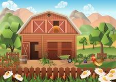 Fondo del vector de la granja stock de ilustración