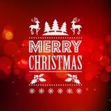 Fondo del vector de la luz de la Navidad Imagen de archivo libre de regalías