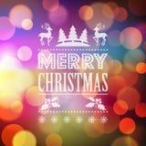 Fondo del vector de la luz de la Navidad Fotos de archivo libres de regalías