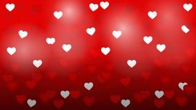 Fondo del vector de la luz de la tarjeta del día de San Valentín del corazón Fotos de archivo libres de regalías