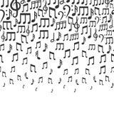 Fondo del vector de la música con las notas musicales que caen libre illustration