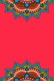 Fondo del vector de la mandala Imagen de archivo