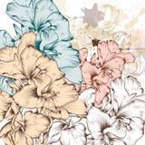 Fondo del vector de la moda con las flores ilustración del vector