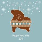 Fondo del vector de la Navidad con las ovejas del pan de jengibre libre illustration