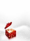 Fondo del vector de la Navidad de la caja de regalo Foto de archivo