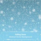 Fondo del vector de la nieve que cae Fotografía de archivo