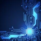 Fondo del vector de la placa de circuito, ejemplo del vector Fotografía de archivo