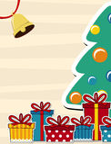 Fondo del vector de la tarjeta de Navidad Imágenes de archivo libres de regalías