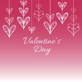Fondo del vector de la tarjeta del día de San Valentín s con los corazones estilizados Imagen de archivo