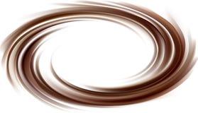 Fondo del vector de la textura oscura del chocolate que remolina Fotos de archivo libres de regalías