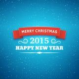Fondo del vector de la tipografía de la Navidad Fotos de archivo libres de regalías