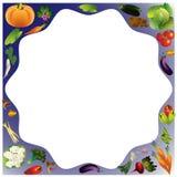 Fondo del vector de las verduras con el lugar para el texto, comida sana t Foto de archivo