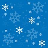 Fondo del vector de los copos de nieve Foto de archivo