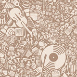 Fondo del vector de los iconos de la música Imagenes de archivo