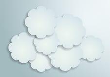 fondo del vector de los Libros Blanco 3d Imagen de archivo