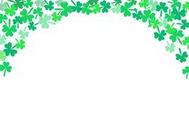 Fondo del vector de los tréboles del día de Patricks del santo que cae stock de ilustración