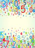 Fondo del vector de números libre illustration