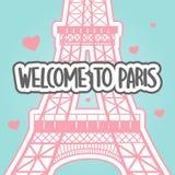 Fondo del vector de París stock de ilustración