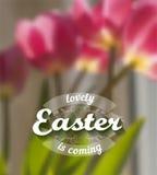 Fondo del vector de Pascua Fotografía de archivo