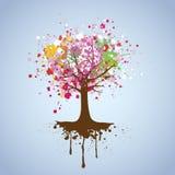 Fondo del vector del árbol Fotografía de archivo