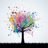 Fondo del vector del árbol Fotos de archivo