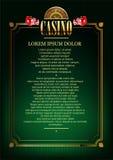 Fondo del vector del casino Fotos de archivo libres de regalías