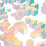 Fondo del vector del cubo Fotografía de archivo libre de regalías