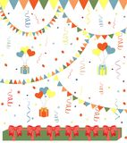 Fondo del vector del cumpleaños Foto de archivo
