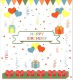 Fondo del vector del cumpleaños Fotografía de archivo