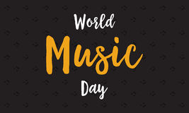 Fondo del vector del día de la música del mundo plano