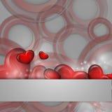 Fondo del vector del día de tarjeta del día de San Valentín stock de ilustración
