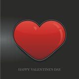 Fondo del vector del día de tarjeta del día de San Valentín del corazón ilustración del vector