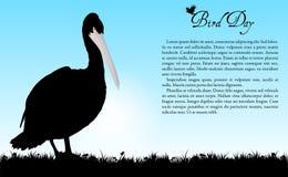 Fondo del vector del día del pájaro stock de ilustración