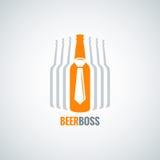Fondo del vector del diseño de concepto del jefe de la botella de cerveza Foto de archivo