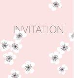Fondo del vector del flor de Sakura Imagen de archivo