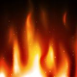 Fondo del vector del fuego de la llama de la quemadura Foto de archivo