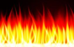Fondo del vector del fuego de la llama de la quemadura Foto de archivo libre de regalías