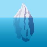 Fondo del vector del iceberg Imágenes de archivo libres de regalías