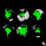 Fondo del vector del mapa del mundo Fotografía de archivo libre de regalías