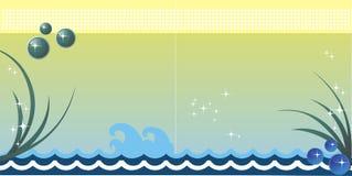 Fondo del vector del mar stock de ilustración
